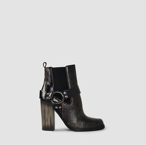 Allsaints Aiden Jules Brown Crackle Boots